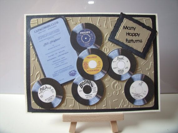 Northern Soul Themed Greeting Card   Many Happy by ChellsCraft