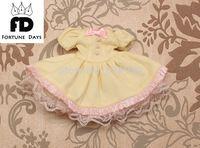 Blyth Kleid Anzug 3 blyth puppe kleidung gelb kleid spitze rosa bogen