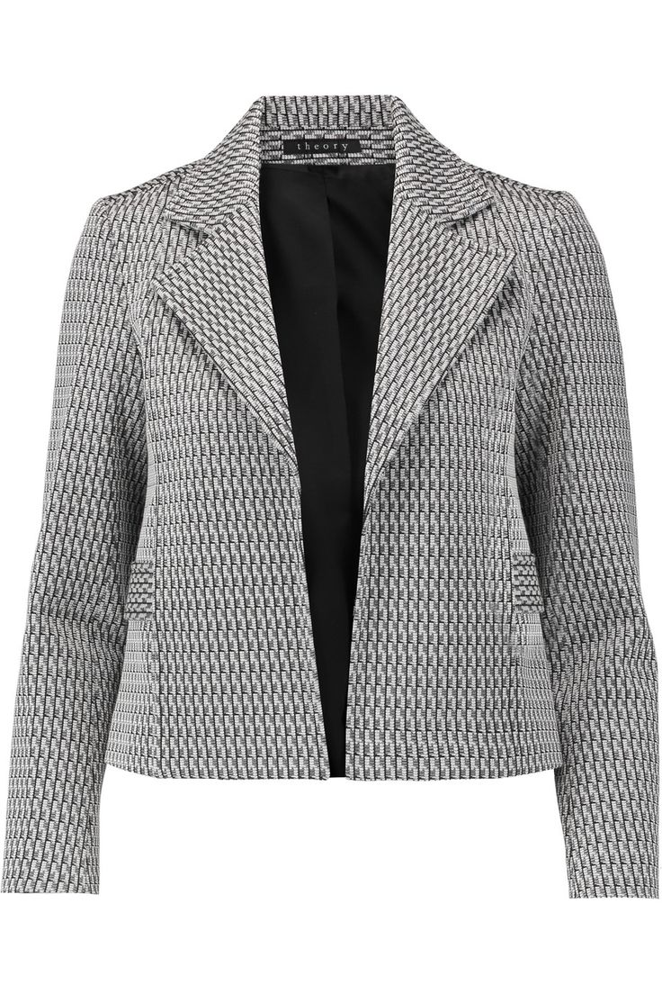 Shop on-sale Theory Cropped jacquard jacket. Browse other discount designer Jackets & more on The Most Fashionable Fashion Outlet, THE OUTNET.COM