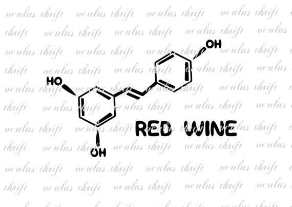 Red Wine Molecule SVG - Silhouette Cut File