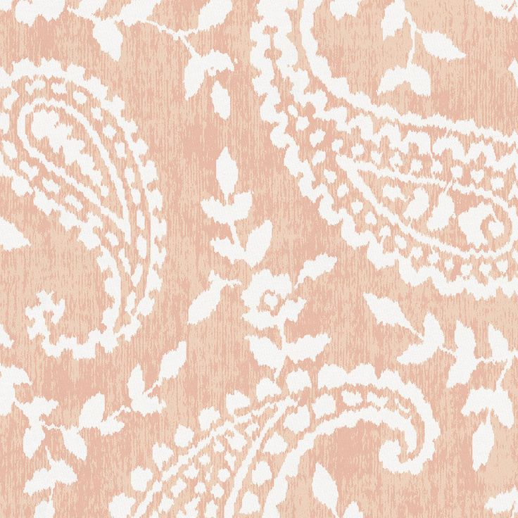 Peach Paisley Fabric by the Yard #carouseldesigns