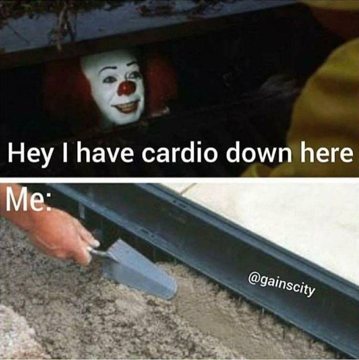 Hell No cardio! https://www.musclesaurus.com/bodybuilding/