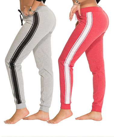 Another great find on #zulily! Heather Gray & Red Joggers Set - Plus #zulilyfinds