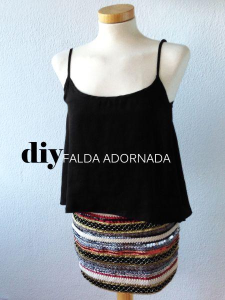 Falda adornada DIY - HACER Y REHACER