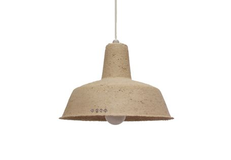 Made in Poland, this recycled paper pendant ($25) is gloriously utilitarian. If you yearn for a little more charisma in your pendant, take to the paint yourself and brush on a little personality – it's highly encouraged by the designer, aptly named Make Your Lamp.