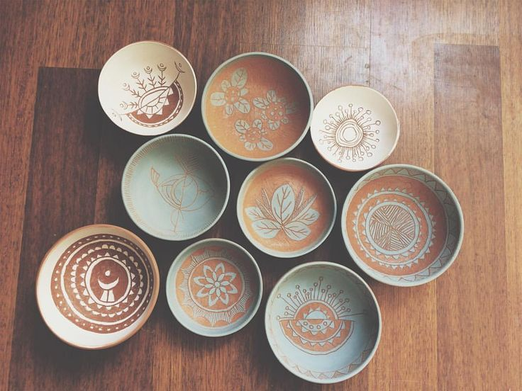 """101 Beğenme, 8 Yorum - Instagram'da 🌬 (@kizilkarakovan): """"Ham haliyle bir takım kaseler...🐉 #vsco #vscocam #vscoturkey #ceramic #ceramics #ceramicmagazine…"""""""