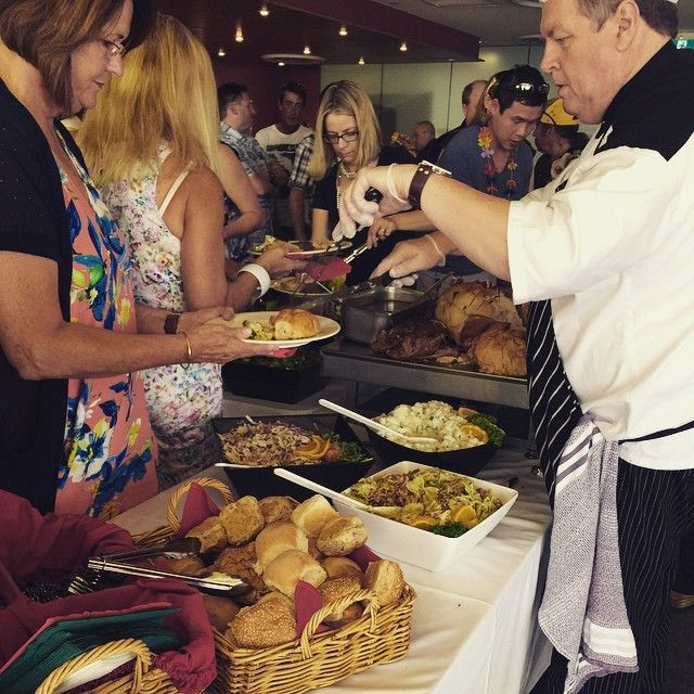 Very hungry guests at the buffet. #catering #grinnersperth #buffetfood #partyfood