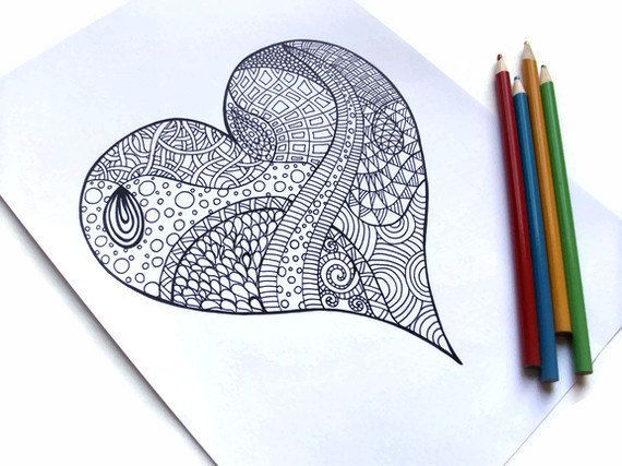 Printable Valentine Coloring Pages