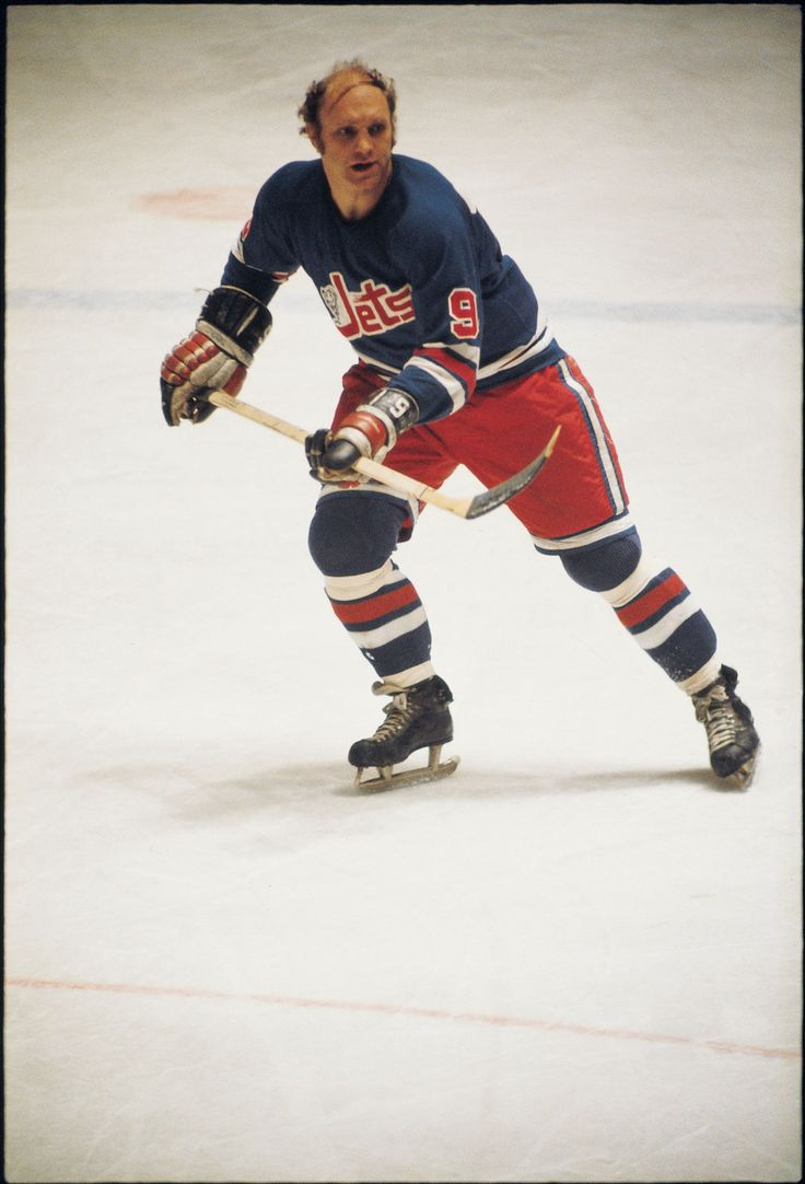 Bobby Hull with the Winnipeg Jets in the 1970s. #NHL #Hockey