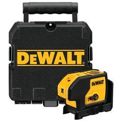 DEWALT DW083K Self-Leveling 3 Beam Laser Pointer (00885911271097) The DeWALT Self-Leveling 3 Beam Laser Pointer is a self-leveling unit accurate to 1/4-in at 100-ft. The power lock system features a single lever on/off switch that locks the pendulum in the off position for added durability. The DW083K also features built-in magnetic pivoting brackets that mount easily in metal surfaces, and the integrated track clearance enables fast and accurate bottom and top track installation. The…