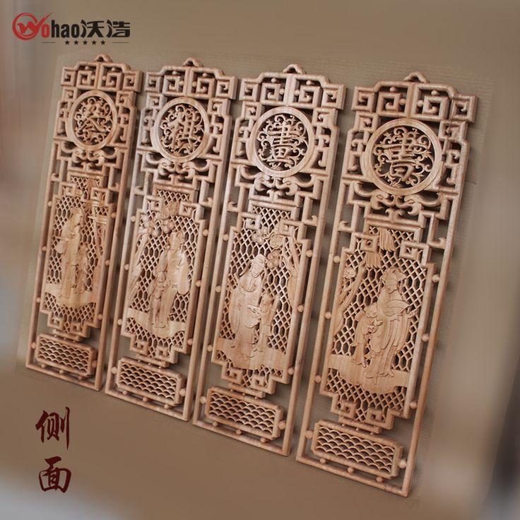 Dongyang резьба по дереву камфары древесины старинные деревянные украшения экран настенный купить на AliExpress