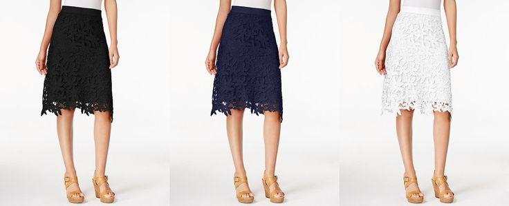JPR Floral-Lace Skirt - Skirts - Women - Macy's