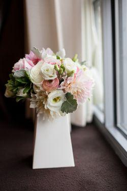 Pastel Centerpiece Blush Wedding Flowers Vermont Wedding Albums