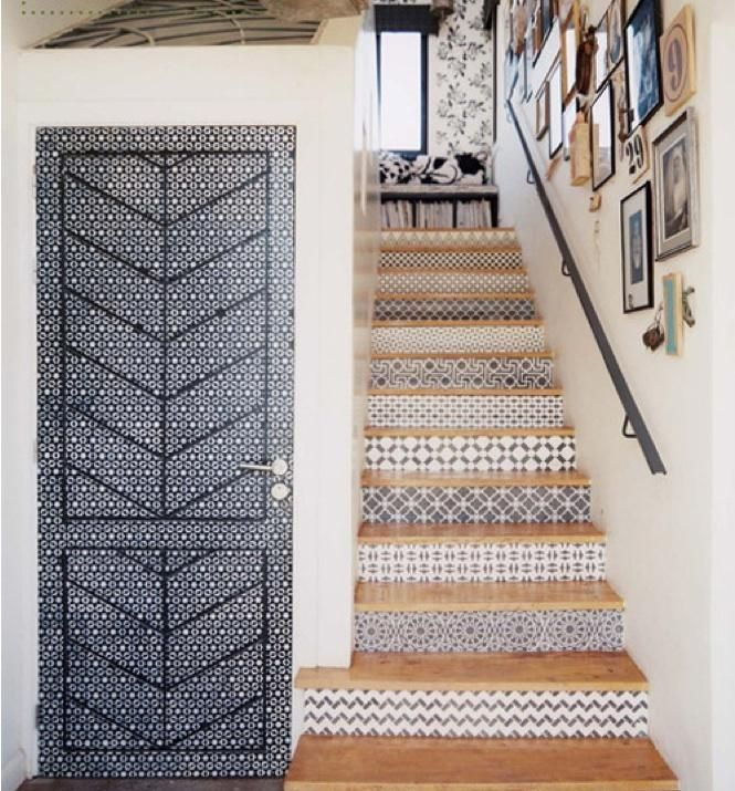 9 Spanish-Style Tiled Stair Risers
