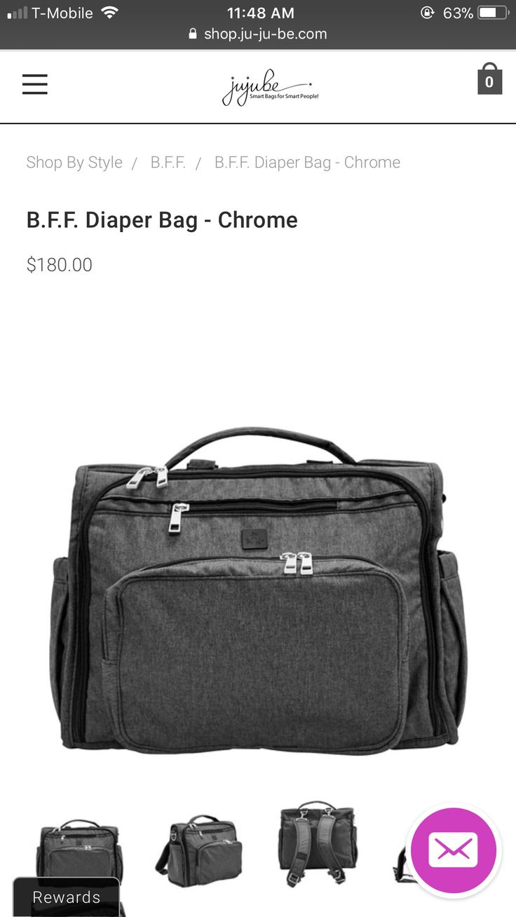 Jujube bff diaper bag in chrome