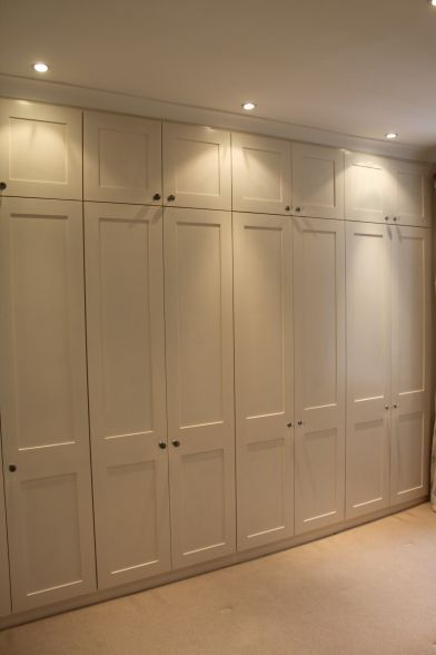 Lights above wardrobes so can actually see in. Novel. (Don't like the actual wardrobes)