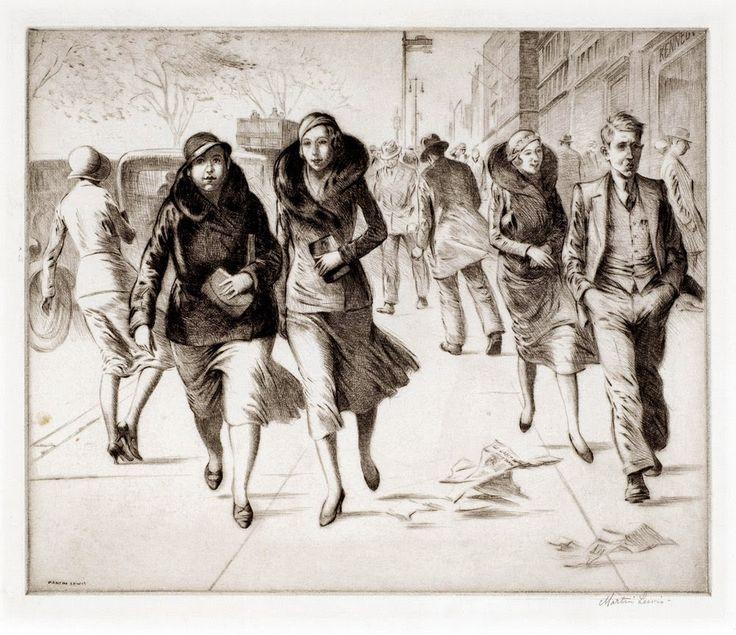Día ventoso, 1931 - Martin Lewis (1881-1962)
