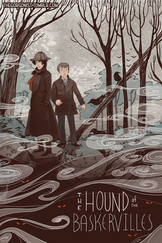 Hound of The Baskervilles Literary Print 8x12 in