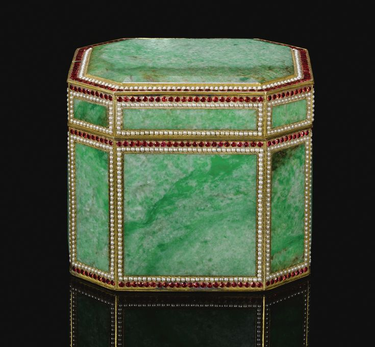 Ottoman gem-set, jadeite and tombak-mounted box, Turkey, 19th Century