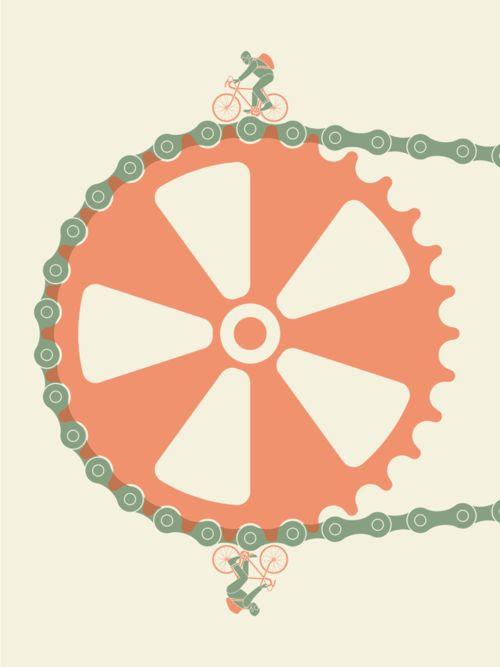 seanmort.bigcartel.com →  seanmort:    Artcrank Bike Print