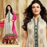 beautiful fashion anarkali 2014 1 200x200 Designer Anarkali Suits of Beautiful Frocks and Pajamas