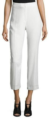 Elie Tahari Harper High-Rise Cropped Pants, White