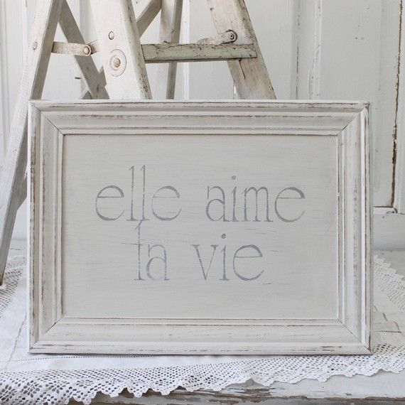 "French for ""She Loves Life."" In my books, this is totally true for Lora Weaver & bff Camille Caron. In life, it's true for me..."