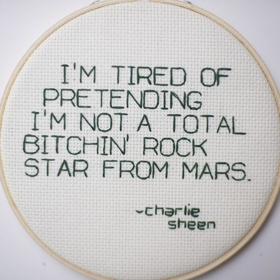 oh, charlie sheen. as crazy as you are I believe you are just as brilliant...