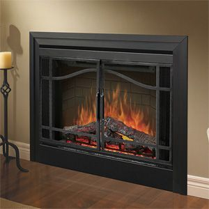 Because electric fireplaces do not require a vent, they can be placed anywhere in the home, on an inside or outside wall, above or below grade, even in corners. A perfect, inexpensive alternative to wood or gas #fireplaces.