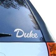 Duke Blue Devils White Wordmark Car Decal