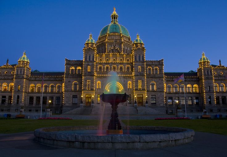 Parliament buildings, Victoria- It has grand workmanship throughout the interiors, it's a beautiful place to visit, and the tours are free. Even better, though, is how it commands your attention anywhere in James Bay or around the Harbour.