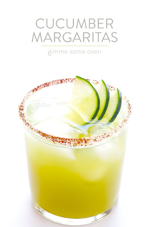 Spicy Cucumber Margaritas   gimmesomeoven.com
