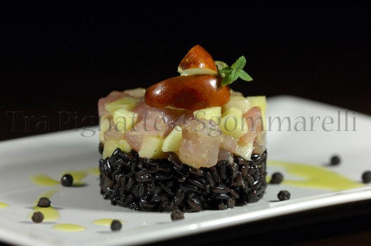 Tartare di cernia e giuggiole al limone e zenzero, con riso venere saltato   Honest Cooking Italia