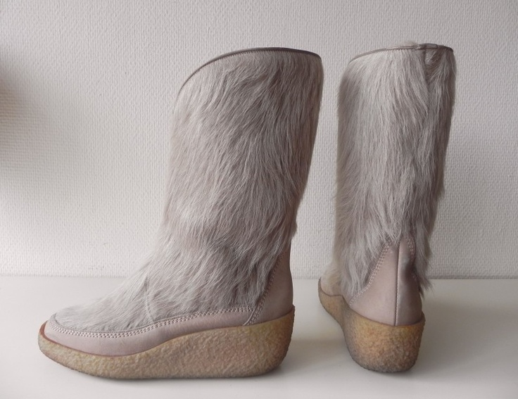 Vintage bont laarzen sleehak (nr. 1404) #vintage #boots