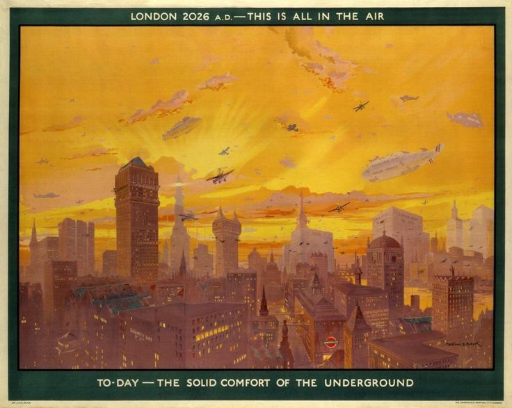 """Sir William Davenant on Twitter: """"""""London 2026, this is all in the air"""" a London Underground poster from 1926 predicting a future skyline dominated by tall buildings... https://t.co/IgDQfFqUu7"""""""