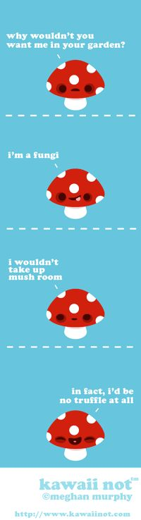 mushroom humor = mushrumor...this isn't really as funny as I feel, I know, but it's cute