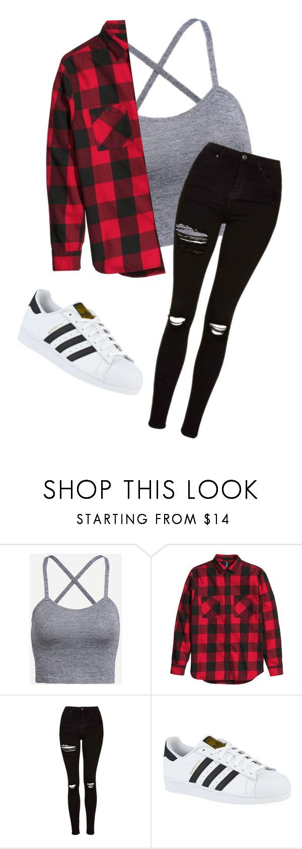"""""""Casual"""" by myhrer714 ❤ liked on Polyvore featuring Topshop and adidas"""