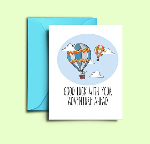 Farewell Card For Friends Hot Air Balloon Printable Good Luck Cards Colleague Co Workers Moving Away Going Away Leaving Job Bon Voyage Card Farewell Cards Good Luck Cards Bon Voyage Cards