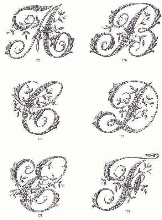 clipart retro b w monogrammesjpg brico pinterest monogramme calligraphie et broderie. Black Bedroom Furniture Sets. Home Design Ideas