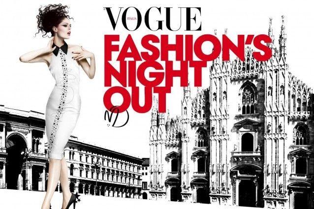 A Milano il 16 Settembre le strade del centro si illuminano con la Vogue Fashion's Night Out: dj set internazionali, prodotti in edizione limitata e cocktail party per celebrare la moda e la solidarietà
