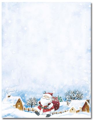 Happy Santa Borders Frames Backgrounds Pinterest