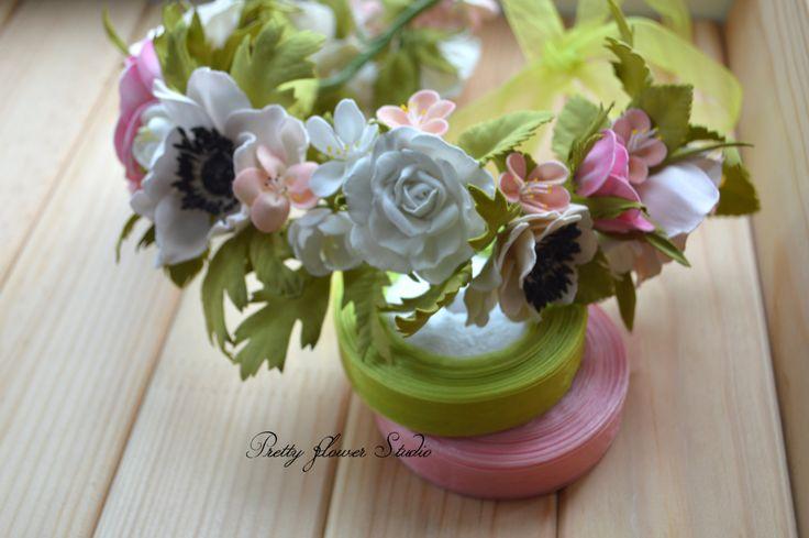 Boho Circlet, Anemome Rose Flower Crown, Wedding Accessory, Flower Girl Headband, Flower headband, Festival Crown, Flower Halo…