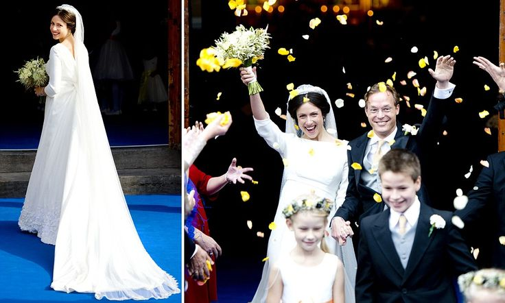 10-5-13.   A Royal wedding without the pomp and circumstance: Prince Jaime Bourbon-Parma of the Netherlands marries Viktoria Cservenyak