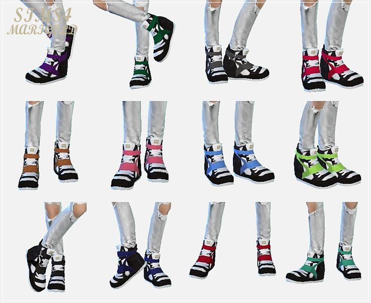 SIMS4 marigold: male_high-top sneakers_하이탑 스니커즈_남성 신발