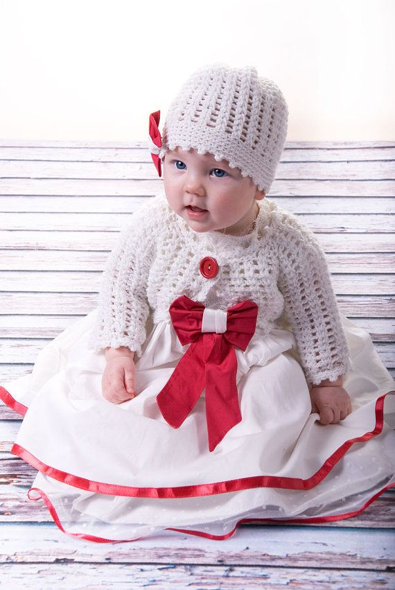 christmas dress with knitted hat and cardigan as a by MonikaVenika