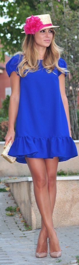Lovely Klein blue dress.