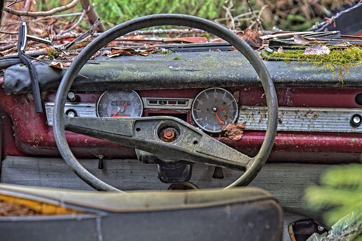 Old car back yard BMW