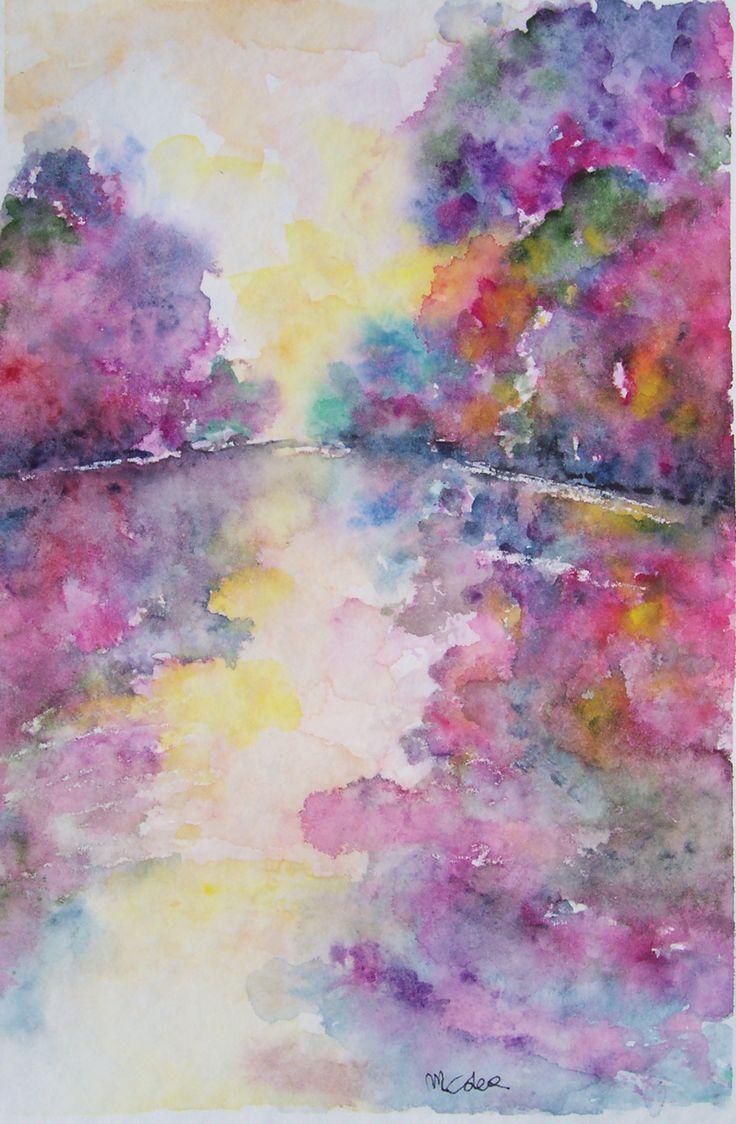 """""""Riflessi"""" watercolor by M. Cristina De Amicis"""