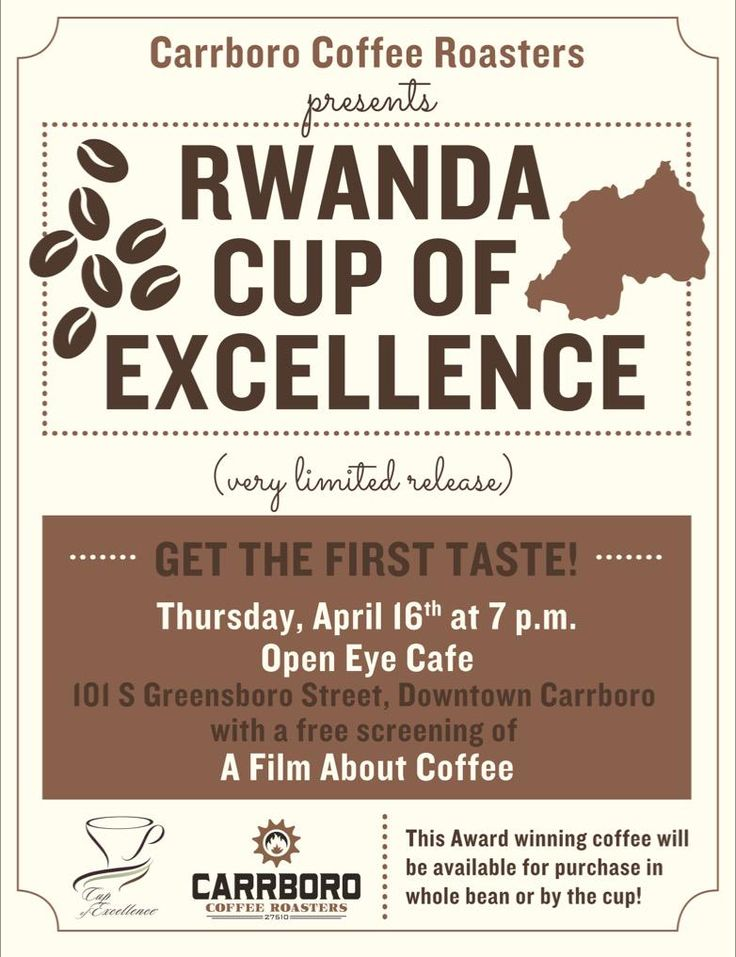 Join us at the Roastery & @OpenEyeCafe as we unveil this amazing @cupofexcellence Rwanda coffee & A Film About Coffee