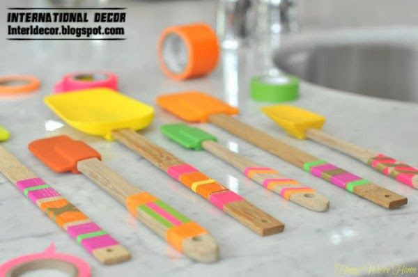 Colored blades in the kitchen,Washi Tape crafts, ideas,projects